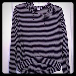 Nordstrom BP striped hooded shirt
